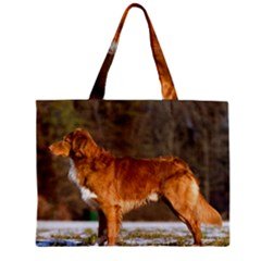 Duck Toller Full Zipper Mini Tote Bag