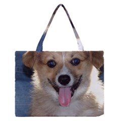 Pembroke Welsh Corgi Puppy Medium Zipper Tote Bag