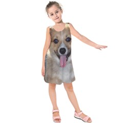 Pembroke Welsh Corgi Puppy Kids  Sleeveless Dress
