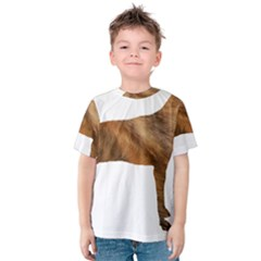 Plott Hound Brindle Silhouette Kids  Cotton Tee