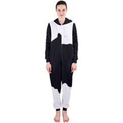 Pomerainian Silo Black Hooded Jumpsuit (Ladies)