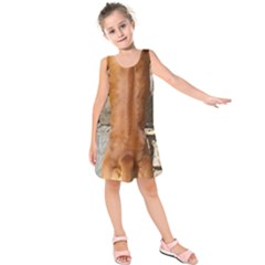 Rhodesian Ridgeback Standing Kids  Sleeveless Dress