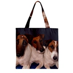Smooth Fox Terrier Group Zipper Grocery Tote Bag