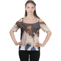 Smooth Fox Terrier Group Women s Cutout Shoulder Tee
