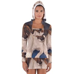 Smooth Fox Terrier Group Women s Long Sleeve Hooded T-shirt