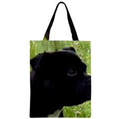 Staffy black Zipper Classic Tote Bag