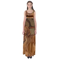 2 Vizslas Empire Waist Maxi Dress
