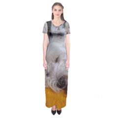 Westy Sleeping Short Sleeve Maxi Dress