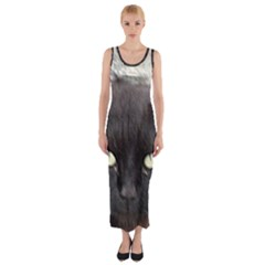 Manx Fitted Maxi Dress