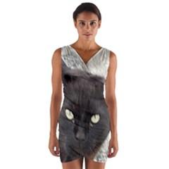 Manx Wrap Front Bodycon Dress