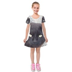 Manx Kids  Short Sleeve Velvet Dress