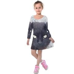 Manx Kids  Long Sleeve Velvet Dress