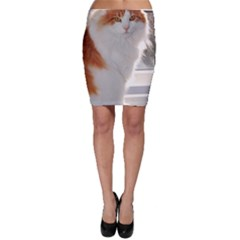 Norwegian Forest Cat Sitting 4 Bodycon Skirt