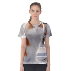 Norwegian Forest Cat Sitting 4 Women s Sport Mesh Tee