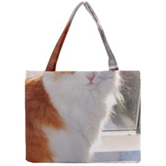 Norwegian Forest Cat Sitting 4 Mini Tote Bag