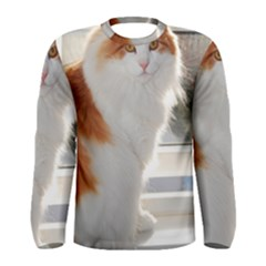 Norwegian Forest Cat Sitting 4 Men s Long Sleeve Tee