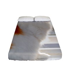 Norwegian Forest Cat Sitting 4 Fitted Sheet (Full/ Double Size)
