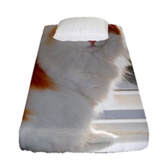 Norwegian Forest Cat Sitting 4 Fitted Sheet (Single Size)