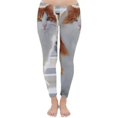 Norwegian Forest Cat Sitting 4 Classic Winter Leggings