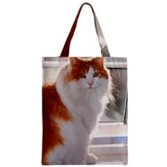 Norwegian Forest Cat Sitting 4 Zipper Classic Tote Bag