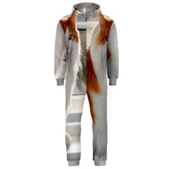 Norwegian Forest Cat Sitting 4 Hooded Jumpsuit (Men)