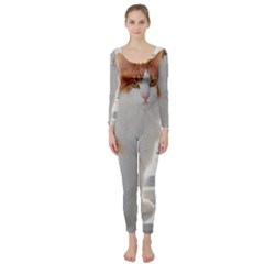 Norwegian Forest Cat Sitting 4 Long Sleeve Catsuit