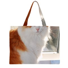 Norwegian Forest Cat Sitting 4 Large Tote Bag