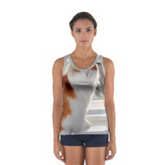 Norwegian Forest Cat Sitting 4 Women s Sport Tank Top