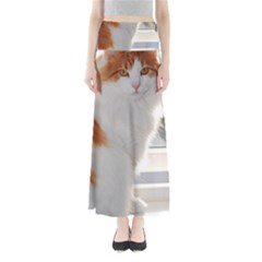 Norwegian Forest Cat Sitting 4 Maxi Skirts
