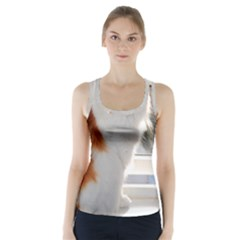 Norwegian Forest Cat Sitting 4 Racer Back Sports Top