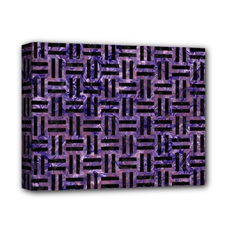 Woven1 Black Marble & Purple Marble (r) Deluxe Canvas 14  X 11  (stretched)