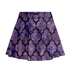 TIL1 BK-PR MARBLE (R) Mini Flare Skirt