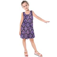 TIL1 BK-PR MARBLE (R) Kids  Sleeveless Dress