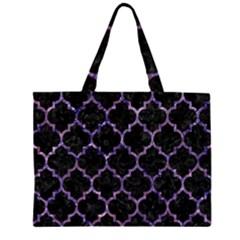 TIL1 BK-PR MARBLE Large Tote Bag