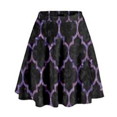 TIL1 BK-PR MARBLE High Waist Skirt