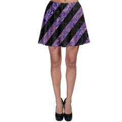 STR3 BK-PR MARBLE Skater Skirt
