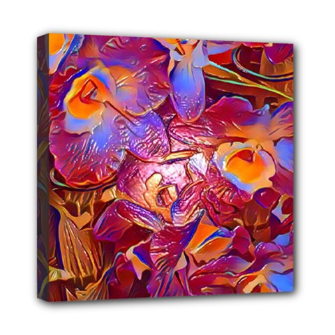 Floral Artstudio 1216 Plastic Flowers Mini Canvas 8  X 8