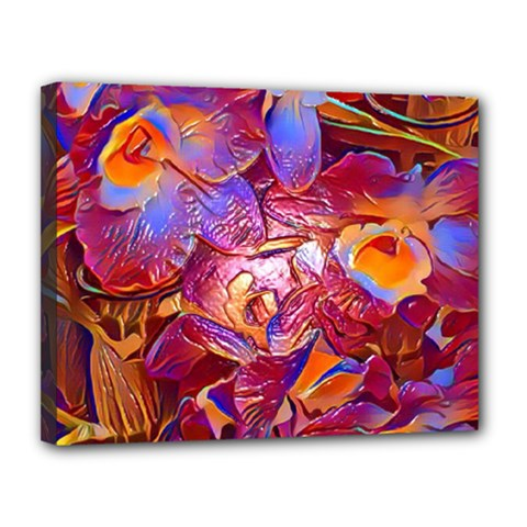 Floral Artstudio 1216 Plastic Flowers Canvas 14  X 11