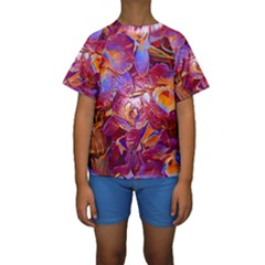 Floral Artstudio 1216 Plastic Flowers Kids  Short Sleeve Swimwear