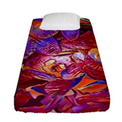 Floral Artstudio 1216 Plastic Flowers Fitted Sheet (single Size)
