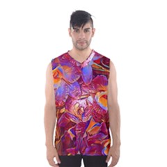 Floral Artstudio 1216 Plastic Flowers Men s Basketball Tank Top