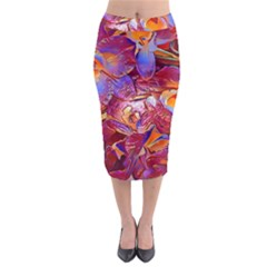 Floral Artstudio 1216 Plastic Flowers Midi Pencil Skirt