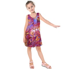Floral Artstudio 1216 Plastic Flowers Kids  Sleeveless Dress