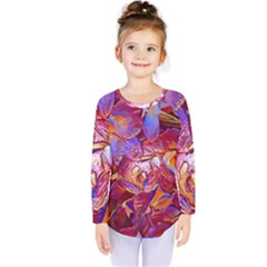 Floral Artstudio 1216 Plastic Flowers Kids  Long Sleeve Tee