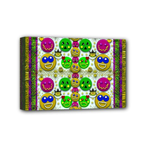 Smile And The Whole World Smiles With You Mini Canvas 6  X 4