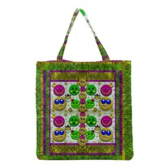 Smile And The Whole World Smiles With You Grocery Tote Bag