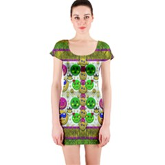 Smile And The Whole World Smiles With You Short Sleeve Bodycon Dress