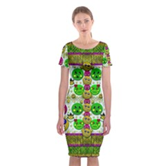 Smile And The Whole World Smiles With You Classic Short Sleeve Midi Dress