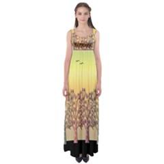Magical sunset Empire Waist Maxi Dress