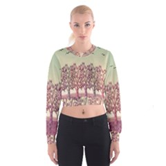 Magical landscape Women s Cropped Sweatshirt